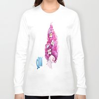 virgo Long Sleeve T-shirts featuring Virgo by Aloke Design