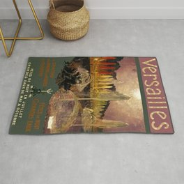 1920 Versailles Palace French Travel Advertisement Poster Rug