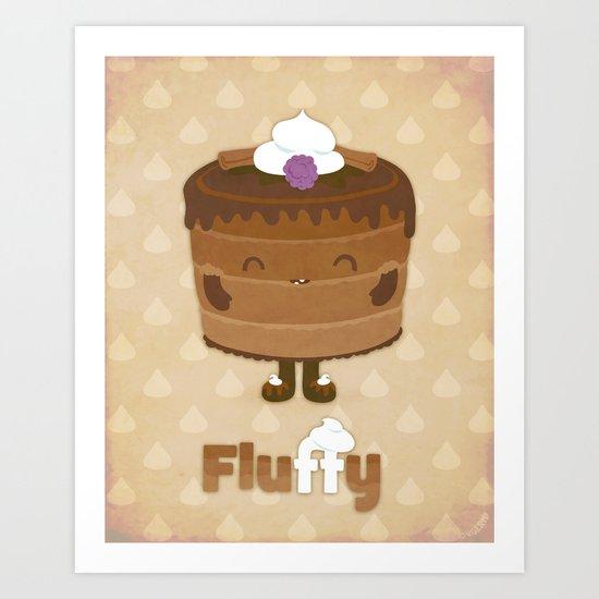 Fluffy Chocolate Mousse Cake Art Print
