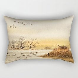 Hunting Pintail Ducks Rectangular Pillow