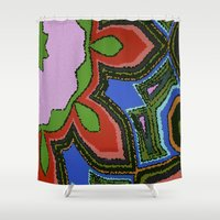 mosaic Shower Curtains featuring Mosaic by Awesome Palette