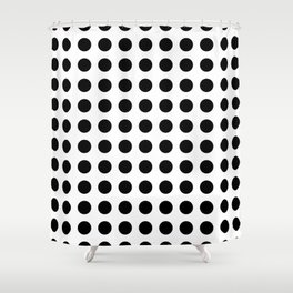 Simply Polka Dots in Midnight Black Shower Curtain