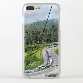 Cars flocking on the uphill road at Cameron Highlands Malaysia. Clear iPhone Case