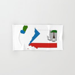 Equatorial Guinea Map with Flag Hand & Bath Towel