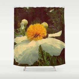 Secret Garden | White poppy  Shower Curtain
