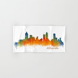 Atlanta City Skyline Hq v2 Hand & Bath Towel