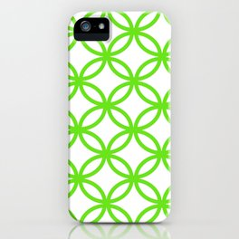 Interlocking Lime Green iPhone Case