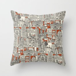 Hong Kong toile de jouy Throw Pillow