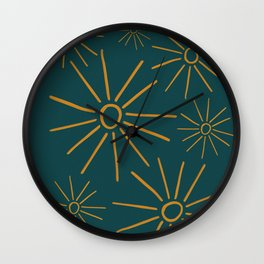 The Suns In The Golden Green Wall Clock