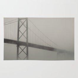 Bridge in Fog Rug
