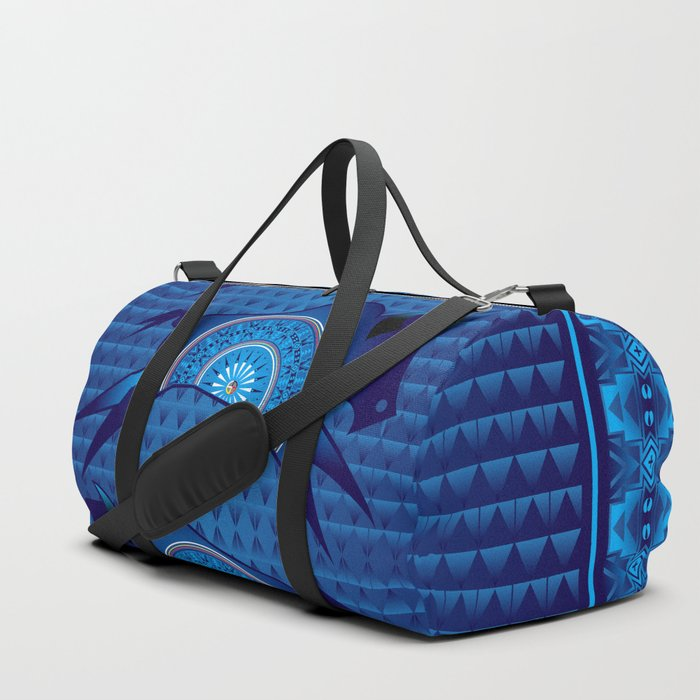 Buffalo Running (Blue) Duffle Bag