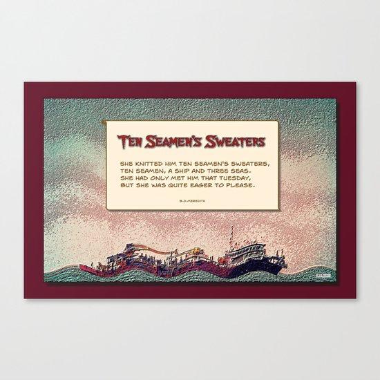 Ten Seamen's Sweaters Canvas Print