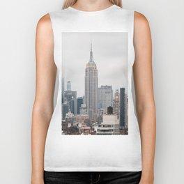 Empire State Building in grey Biker Tank