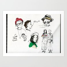 Hipster Dykes  Art Print