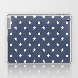 White stars pattern on navy blue background Laptop & iPad Skin