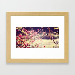 Little Bluey and his blossoms #2 Framed Art Print