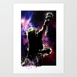cosmic tiger Art Print
