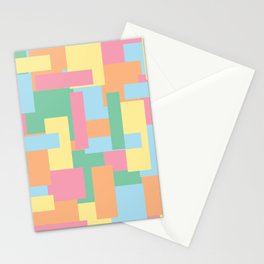 Pastel Colorful Blocks Stationery Cards