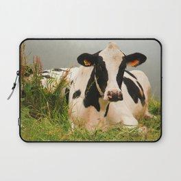 Holstein cow facing camera Laptop Sleeve