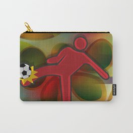 Soccer Kicker Icon Carry-All Pouch