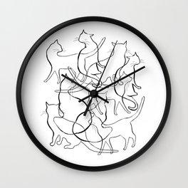 linecats Wall Clock