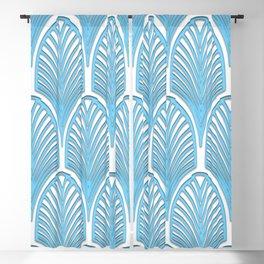 Art deco,deco,blue,white,elegant,chic,fan pattern, vintage,art nouveau,nelle epoque,victorian,beauti Blackout Curtain