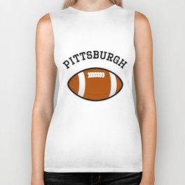 Pittsburgh American Football Design black lettering Biker Tank