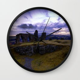 Crow Crag Castle at dusk Wall Clock