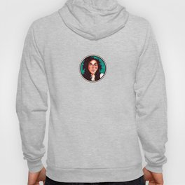 Woman with curls Hoody