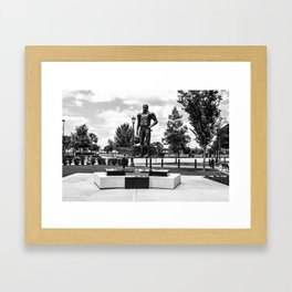 George Rogers Statue Framed Art Print