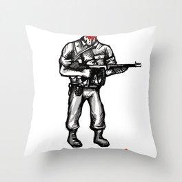 Roland The Headless Thompson Gunner Throw Pillow