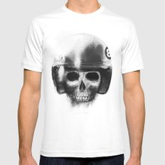 death racer Mens Fitted Tee White MEDIUM