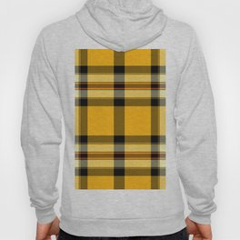 Argyle Fabric Plaid Pattern Autumn Colors Yellow and Black Hoody