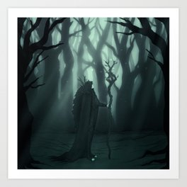 Deity of the Forest Art Print