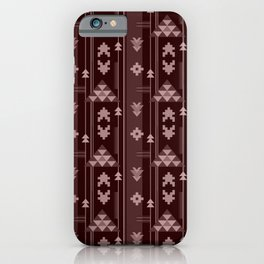 Bohemian Geo in Dark Red iPhone Case