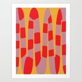 Abstract Snake Art Print