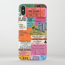 I miss concerts - ticket stubs iPhone Case