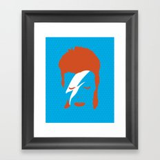 Ziggy Stardust - Blue Framed Art Print