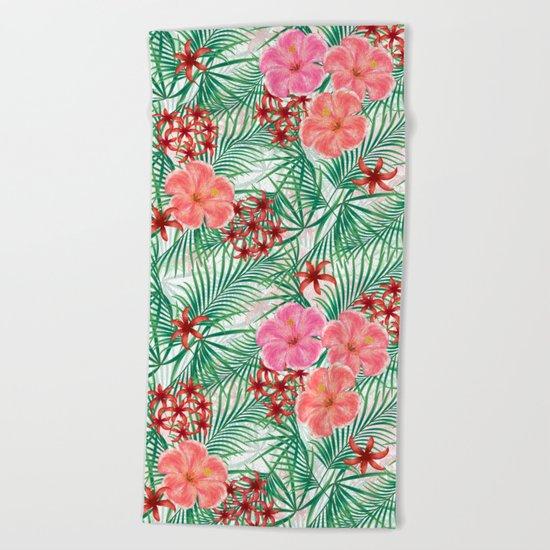 Tropical pattern. Beach Towel