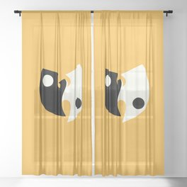 Wu Tang Yin Yang Sheer Curtain
