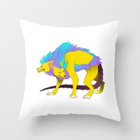 persona Throw Pillows featuring Persona - Orthrus by matcha-tiger