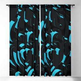 3D Abstract Ornamental Background Blackout Curtain