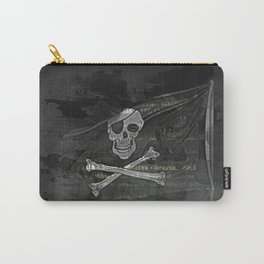 Vintage Skull Pirates Flag Carry-All Pouch