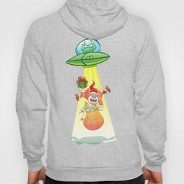 Santa Claus Abducted by a UFO just before Christmas Hoody