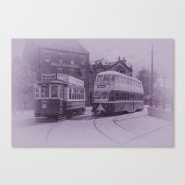 Classic Trams Canvas Print