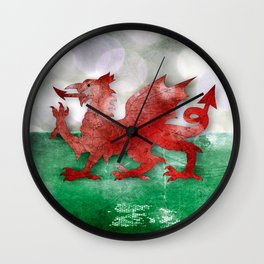 Wales - Cymru Wall Clock