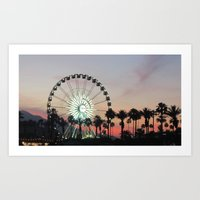coachella Art Prints featuring Coachella by Lauren Haney