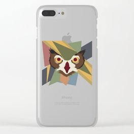 Owl Abstract Clear iPhone Case