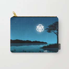Tree By the Lake D20 Dice Full Moon Tabletop RPG Landscape Carry-All Pouch