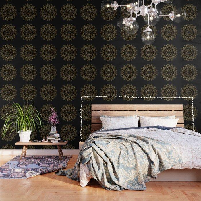 Golden Bee Mandala Wallpaper